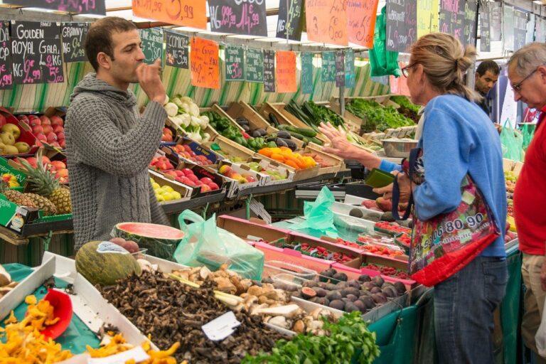 market, market stall, seller